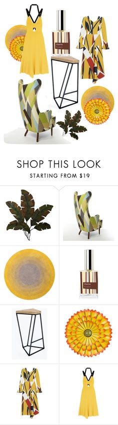 """Two yellow dresses are better than One"" by a-perfect-day ❤ liked on Polyvore featuring Home Decorators Collection, Modloft, Parden's, Rebecca Vallance and modern"