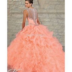 2015 New Organza Ruffled Ball Gown Quinceanera Dresses for 15 Years Beaded Back Cheap Masquerade Dress Vestidos de 15 anos FHJ01