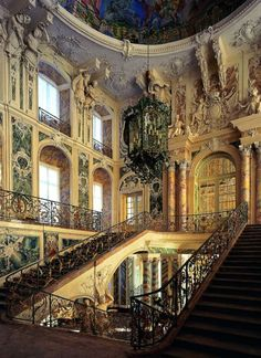 AUGUSTUSBURG AND FALKENLUST PALACE, BRÜHL, GERMANY, INTERIOR.