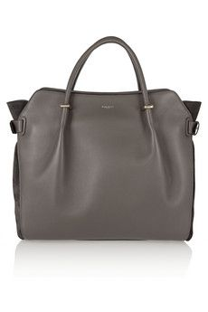 Nina Ricci Marche medium leather and suede tote | NET-A-PORTER