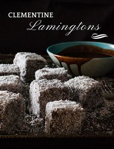 These Clementine Lamingtons were inspired by a box of seasonal ClemenGolds; the sweetest and most delicious clementines. I gave the Australian Lamington a citrus twist and the result is fabulous. This Lamington recipe uses a basic butter cake base, filled with citrus marmalade which is coated with chocolate icing and coconut.