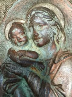 Madonna Mother and child wall plaque by ReginaAnnes on Etsy