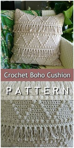 Make this boho inspired cushion cover with my easy to crochet pattern i mean seriously it is so easy you will be making this cushion cover again and again crochet crochetpattern easycrochetpattern etsy bohocushion boho crochet bags free patterns Crochet Cushion Pattern, Cushion Cover Pattern, Crochet Cushion Cover, Crochet Cushions, Crochet Pillow Covers, Diy Crochet Pillow, Crochet Shirt, Crochet Sweaters, Basic Crochet Stitches
