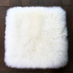 Selected New Zealand long hair genuine sheepskin rug square sheep fur chair mat, sheep fur sofa cushion, office chair fur cover
