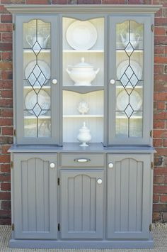 French Provincial Hamptons Country Buffet AND Hutch Sideboard Grey Antique White in Glen Waverley, VIC | eBay