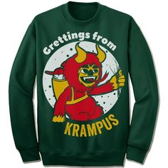 Greetings From Krampus Sweater. – Merry Christmas Sweaters