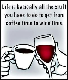 [Via Classy with a touch of Wine/FB] __Coffee x Wine x Life (Wine glass Illustration Quotes) (Wine in hand) Wednesday Humor, Wine Wednesday, Wednesday Outfit, Wine Glass Sayings, Wine Quotes, Tequila Quotes, Wine Signs, Coffee Wine, Coffee Drinks