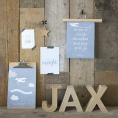 Little Dutch ☁ Poster & cards ☁ #littledutch #blue #poster #card #jax #airplane #fly #magic #star