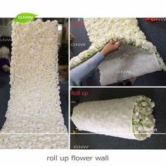 GNW FLW1606012-CL New arrival Wholesale Artificial flower wall cloth with rose and hydrangea for wedding decoration