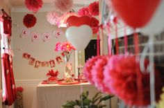First birthday party idea: The Waxhonian Chronicles: Lottie's First Birthday Party - Valentine's Theme