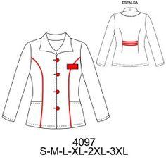 Delantales Corporate Uniforms, Teacher Style, Fashion Design Sketches, Diy Clothing, Pattern Making, Scrubs, Bell Sleeve Top, Plus Size, Nursing Uniforms