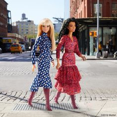 I love how is a woman We did a fun interview with the DVF team while here in New York, excited to share it with you! Barbie Style, Barbie Mode, Barbie Fashionista Dolls, Barbie Sewing Patterns, Barbie Diorama, Barbie Family, Doll Clothes Barbie, Beautiful Barbie Dolls, Barbie Friends