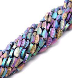 Jasper Gemstone, Gemstone Beads, Diy Beaded Bracelets, Tourmaline Gemstone, Leaf Shapes, Turquoise Bracelet, Gemstones, Color, Etsy