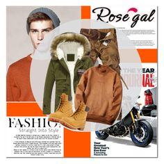 """""""Rosegal30"""" by angel-a-m on Polyvore featuring Timberland, men's fashion, menswear, MensFashion, polyvoreeditorial, polyvorefashion and rosegal"""