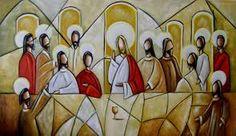 tela santa ceia pintura moderna - Pesquisa Google