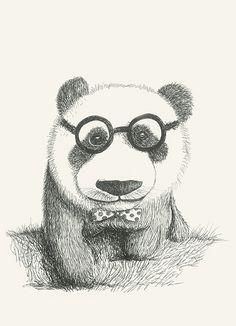 Mr Soft #animals#glasses#panda#drawing#elegant by Leo Bellei https://flic.kr/p/D8pK7r