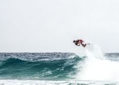 Julian Wilson today at the Quiksilver Pro ~ Photo by @SurfCareers