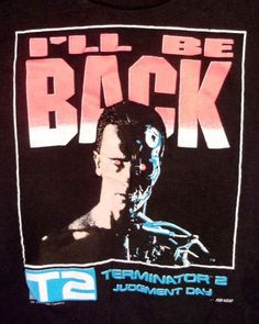 f60f780727 vtg 80s 90s soft thin RARE Terminator 2 Judgment Day T-Shirt Movie Film  Youth