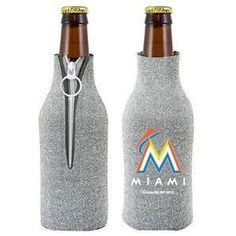Miami Marlins MLB Glitter Bottle Holder Cooler