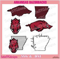 Arkansas Razorbacks Design Kit Files Use Your Silhouette Studio Software SVG Files DXF Font EPS Files Svg Fonts Silhouette Cricut by SatinSVGdesigns