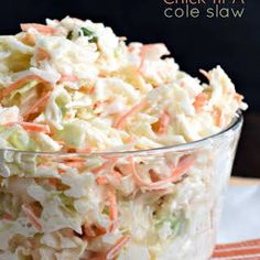 INGREDIENTS: 1 cup mayonnaise 4 tsp white vinegar cup granulated sugar tsp dry mustard tsp kosher salt 2 bags oz each) shredded cole slaw mix DIRECTIONS: In a large mixing bowl, whisk together the mayo, vinegar, sugar, dry Coleslaw Dressing, Coleslaw Mix, Dressing Recipe, Coleslaw Recipes, Chick Fil A Coleslaw Recipe, Kfc Cole Slaw Recipe, Chik Fil A Coleslaw, Creamy Cole Slaw Recipe, Vinegar Coleslaw