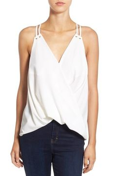 Leith Surplice Drape Tank available at #Nordstrom