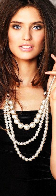 Las perlas son un accesorio increíble. #Fashion