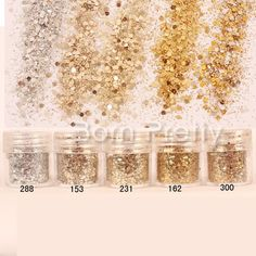 $2.16 1 Box 10ml Champagne Silver Glitter Powder Sequins Super Matte Powder Nail Art Decorations - BornPrettyStore.com