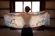 Orgullo y prejuicio bufanda / Bewitched me Sr. Darcy Book bufanda / bufanda de Jane Austen Vintage gasa bufanda