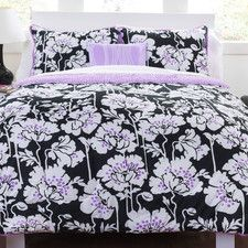 Midnight Poppies Comforter Set