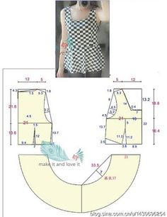 Amazing Sewing Patterns Clone Your Clothes Ideas. Enchanting Sewing Patterns Clone Your Clothes Ideas. Sewing Patterns Free, Sewing Tutorials, Clothing Patterns, Dress Patterns, Bodice Pattern, Top Pattern, Sewing Blouses, Make Your Own Clothes, Couture Tops