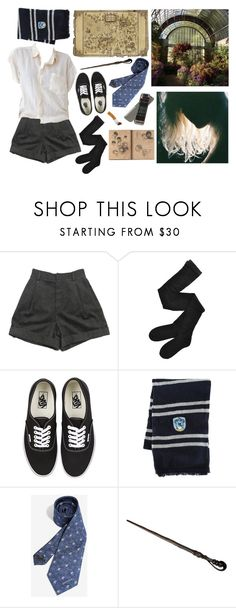 """a ravenclaw's day off"" by getyoureyesoffme ❤ liked on Polyvore featuring Chloé, Fogal, Vans and Warner Bros."