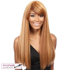 Premium quality synthetic wig Fullcap wig Its a Wig! Curling iron friendly 350~400°F Style color shown: DX3147