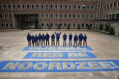 'Save the North Sea' Message in the Hague. Photographer: Bas Beentjes / Greenpeace