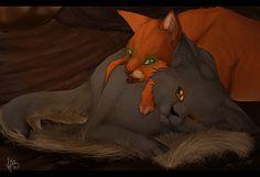 Warrior cats Firestar & Yellowfang