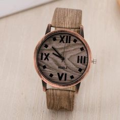 Simulated Wood Leather Watches – uShopnow store