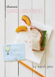 Printable lunch cards