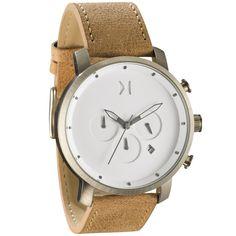 Chrono White/Caramel Leather | MVMT Watches