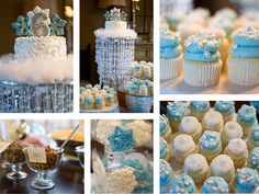 Love the cupcakes! Perfect for my party's colors. which by the way are silver white and  that baby blue.