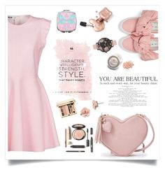 """""""Pastel Pink """" by bluedewred ❤ liked on Polyvore featuring MSGM, Joshua's, Olivia Burton, 1928, contest and pastel"""