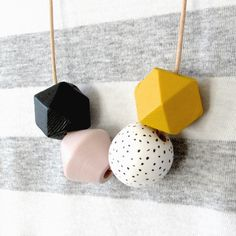 Your place to buy and sell all things handmade Natural Leather, Natural Wood, Geometric Necklace, Photo On Wood, All That Glitters, Leather Cord, Wood Print, Vintage Pink, My Etsy Shop