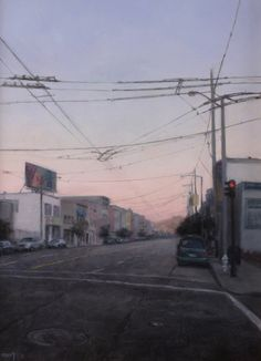 Carl Dobsky, Wires, Oil on Canvas, 14 x 11 inches, 2011  http://www.johnpence.com/visuals/painters/dobsky/images/wwires.jpg