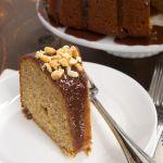 Peanut Butter Bundt Cake with Milk Chocolate Ganache