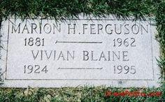Vivian Vance Grave   ... Vivian Hansberry Vivian Vance Lewis Blaine Hershey Peter Vivian Daniel
