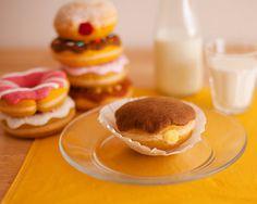 Felt Chocolate Glazed Custard Filled Donut - Felt Food - Wool