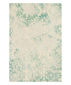 Teal aqua cream rugs Take a look at this Mist Beckett Wool Rug on zulily today!