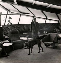 storer house by frank lloyd wright | Taliesin Tuesday!mpdrolet:Frank Lloyd Wright, in his house at Taliesin ...