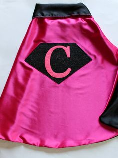 Girl's REVERSIBLE Pink and Black SuperHero / by firstcrushdesigns, $30.00