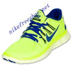Nike Free 5.0 Mens Volt Black Barely Volt Hyper Blue 579959 740