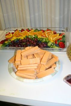 "Wizard of Oz Party Food: Use sugar wafers to make a ""yellow brick road"""